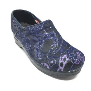 Sanita Clogs Shoes Size 38 EU/7-7.5 Purple Floral